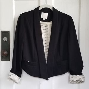 Arn K. Black Cropped Blazer With Rolled Up Sleeves
